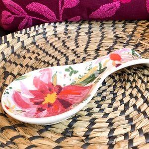 Opalhouse Kitchen - Opalhouse • Floral Stoneware Spoon Rest